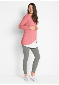 Różowy kombinezon bonprix moda ciążowa, melanż