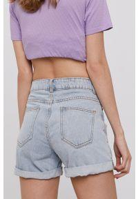 Haily's - Szorty jeansowe. Okazja: na co dzień. Stan: podwyższony. Kolor: niebieski. Materiał: jeans. Styl: casual