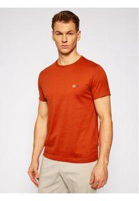 TOMMY HILFIGER - Tommy Hilfiger Tailored T-Shirt MERCEDES-BENZ Mesh Collar TT0TT08497 Pomarańczowy Regular Fit. Kolor: pomarańczowy. Materiał: mesh