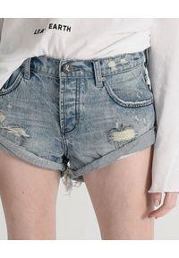 ONETEASPOON - Spodenki Bandits. Kolor: niebieski. Materiał: jeans, materiał. Wzór: aplikacja. Styl: klasyczny
