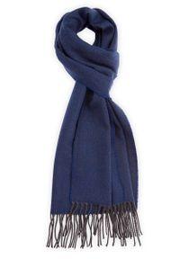 Niebieski szalik Lancerto jodełka, klasyczny