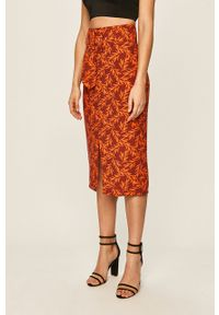 Pomarańczowa spódnica Glamorous casualowa, na co dzień
