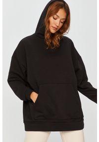 Czarna bluza Answear Lab z kapturem, wakacyjna