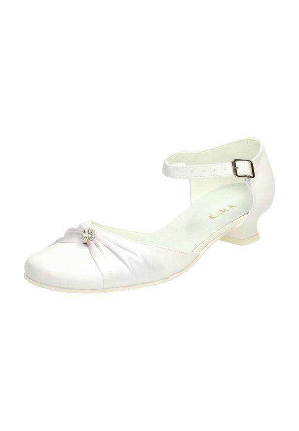 Białe baleriny KMK na komunię, klasyczne