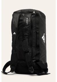 Czarna torba adidas Performance casualowa, z nadrukiem