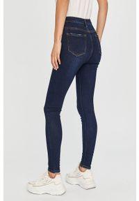 Niebieskie jeansy Answear Lab z podwyższonym stanem, wakacyjne
