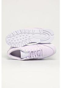 Fioletowe buty sportowe Reebok Classic z okrągłym noskiem, na średnim obcasie, Reebok Classic