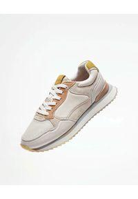 HOFF - Białe sneakersy Toulousse. Kolor: biały. Materiał: guma, jeans, materiał. Wzór: nadruk