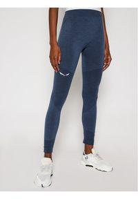 Niebieskie legginsy sportowe Salewa