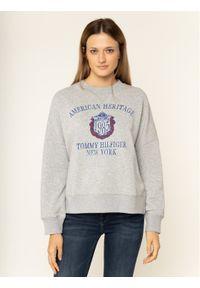 TOMMY HILFIGER - Tommy Hilfiger Bluza Ozlem Sweatshirt WW0WW25928 Szary Regular Fit. Kolor: szary