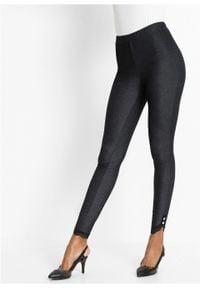 Czarne jeansy bonprix w koronkowe wzory