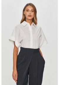 Biała koszula Liviana Conti gładkie, krótka