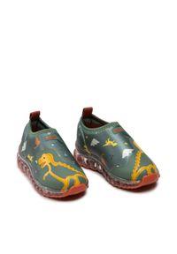 Bibi - Sneakersy BIBI - Roller Celebration 1079133 Print/Dinosaur/Folha. Kolor: zielony. Materiał: materiał. Wzór: nadruk