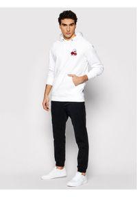 Vans Bluza Rose Bed VN0A54AK Biały Regular Fit. Kolor: biały