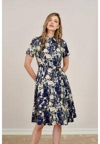 Marie Zélie - Sukienka Marina Kobe. Materiał: bawełna, wiskoza, materiał. Sezon: lato. Typ sukienki: szmizjerki