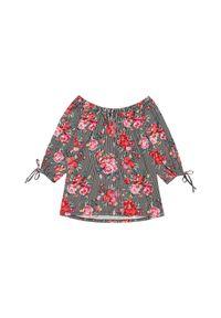 Bluzka MOODO z dekoltem typu hiszpanka