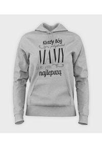 MegaKoszulki - Bluza damska z kapturem Kiedy Bóg przydzielał mamy. Typ kołnierza: kaptur