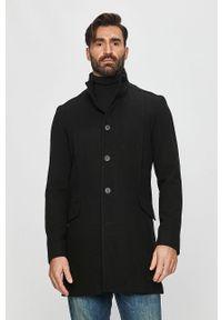 Czarny płaszcz Selected na co dzień, bez kaptura