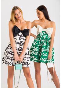 Sukienka Elisabetta Franchi mini, bez ramiączek, na wiosnę