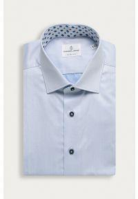 Emanuel Berg - Koszula. Typ kołnierza: kołnierzyk klasyczny. Kolor: niebieski. Długość rękawa: długi rękaw. Długość: długie. Styl: klasyczny