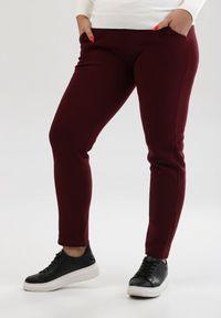 Czerwone spodnie z wysokim stanem Born2be