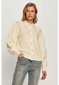 Kremowy sweter rozpinany Miss Sixty długi, z długim rękawem, klasyczny