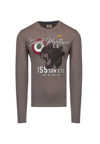 Aeronautica Militare - T-shirt AERONAUTICA MILITARE. Materiał: bawełna. Długość rękawa: długi rękaw. Długość: długie. Wzór: motyw zwierzęcy, nadruk