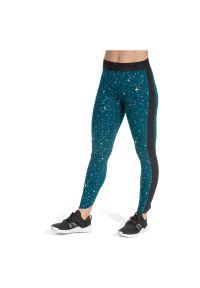 Spodnie damskie treningowe Nike Pro Warm BV5596. Materiał: poliester, materiał. Technologia: Dri-Fit (Nike). Wzór: nadruk. Sport: fitness