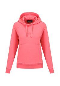 Peak Performance - Bluza PEAK PERFORMANCE ORIGINAL LIGHT HOOD. Kolor: różowy. Materiał: bawełna. Długość rękawa: raglanowy rękaw. Wzór: jednolity, haft, napisy. Styl: sportowy, klasyczny