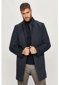 Niebieski płaszcz casualowy, na co dzień #6
