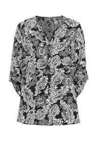 Czarna bluzka Cellbes krótka, z dekoltem w serek