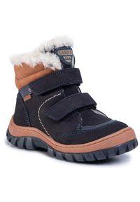 Niebieskie buty zimowe Lasocki Kids z cholewką, z cholewką przed kolano