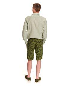 TOP SECRET - Koszula z lnem o dopasowanym kroju. Kolor: zielony. Materiał: len. Długość rękawa: długi rękaw. Długość: długie. Sezon: lato, wiosna #7