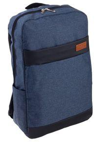 ROVICKY - Plecak męski granatowy Rovicky NB9755-4412 NAVY. Kolor: niebieski. Materiał: materiał. Styl: sportowy