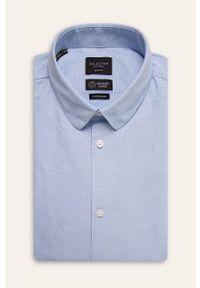 Niebieska koszula Selected krótka, na co dzień