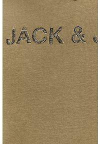 Jack & Jones - Bluza. Okazja: na co dzień. Kolor: zielony. Materiał: dzianina. Wzór: gładki. Styl: casual