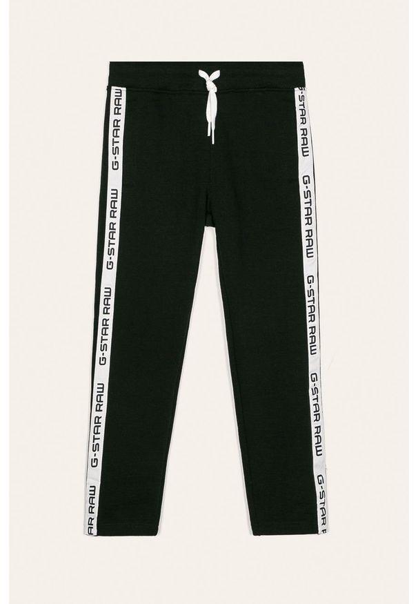 Czarne spodnie dresowe G-Star RAW z aplikacjami