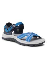 Niebieskie sandały trekkingowe keen z otwartym noskiem