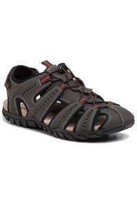 Brązowe sandały Geox na lato, klasyczne