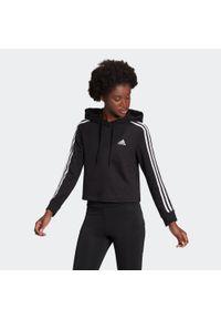 Adidas - Bluza fitness damska. Typ kołnierza: kaptur. Materiał: bawełna, wiskoza, poliester. Sport: fitness