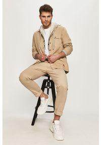 Beżowe spodnie Lee gładkie