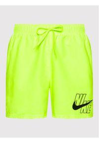 Nike Szorty kąpielowe Logo Lap 5 NESSA566 Żółty Standard Fit. Kolor: żółty