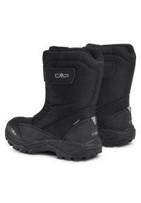 Czarne buty zimowe CMP na co dzień, z cholewką, casualowe