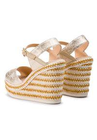 Złote sandały Kanna casualowe, na co dzień