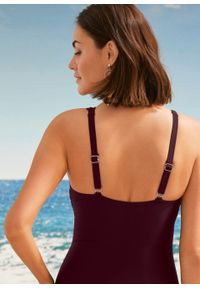 Kostium kąpielowy shape Level 3 bonprix bordowy. Kolor: czerwony