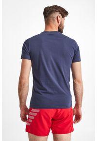 Emporio Armani Swimwear - T-SHIRT EMPORIO ARMANI SWIMWEAR. Materiał: bawełna. Długość rękawa: krótki rękaw. Długość: krótkie. Wzór: nadruk