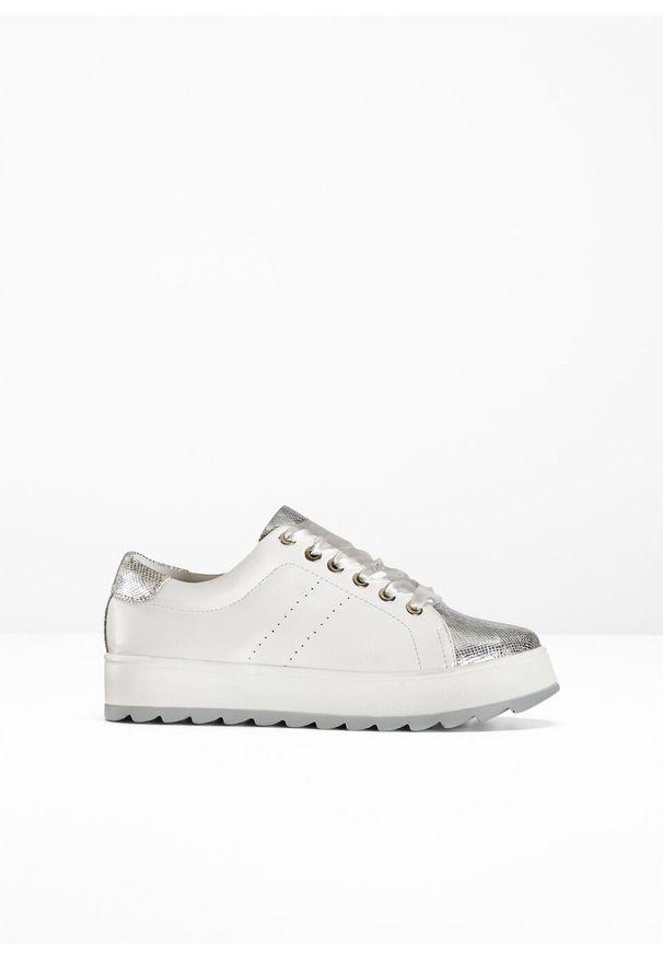 Białe buty sportowe bonprix na sznurówki
