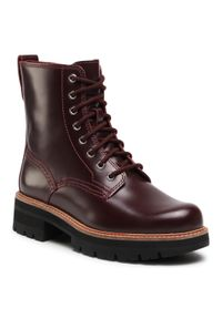 Czerwone buty trekkingowe Clarks
