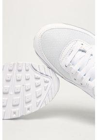 Białe buty sportowe Nike Nike Air Max 90, z cholewką, z okrągłym noskiem, na obcasie
