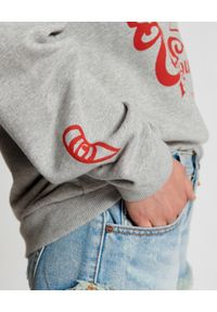 ONETEASPOON - Szara bluza z nadrukiem. Typ kołnierza: bez kaptura. Kolor: szary. Materiał: prążkowany, bawełna, jeans. Wzór: nadruk